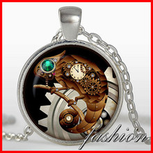 1 pc free shipping Steampunk pendant Necklace Silver plated pendant fashion necklaces for women 2015 Gear Steampunk Jewelry