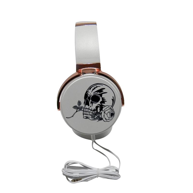 2017 Newest cool Headband Skull headphones Crossbones earphones Skeleton headset Stereo music headphone for All smart phone pc(China (Mainland))