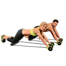 Green abdominal exerciser Ab Roller Core Double waist trainer ab wheel fitness workout home gym and exercise equipment