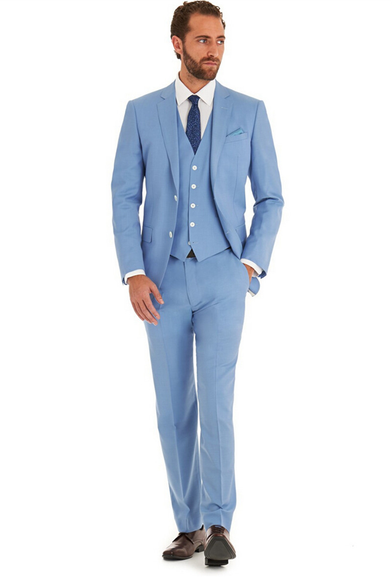 Buy new arrivel light blue wedding man 39 s for Dress suits for wedding