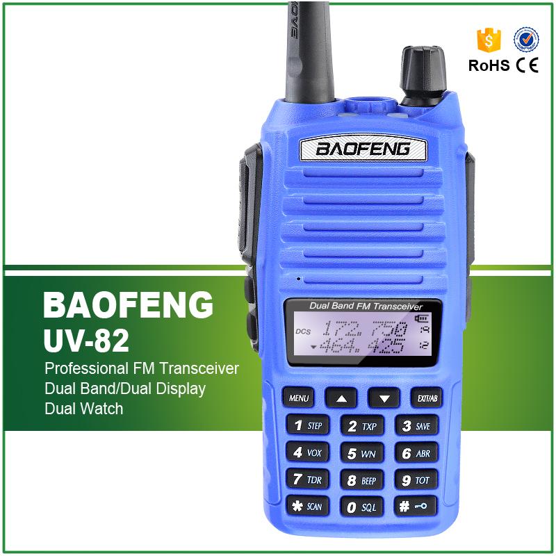 100% Original 5W Dual Display VHF UHF Radio Communicator UV-82 LED Flashlight Free Headset(China (Mainland))
