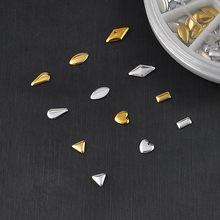 Gold / Silver Metal Nail Art Decor Rhinestones Tips Metallic Studs tools sticker DIY Nail Tools Box Nail Art Nail Beauty