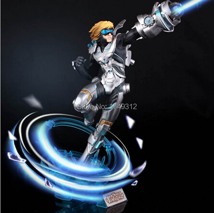 Hot! Free Shipping 29cm Height Delicate LOL EZ Ezreal PVC Table Garage Kit Action Figure Hero Model Gift Toy(China (Mainland))