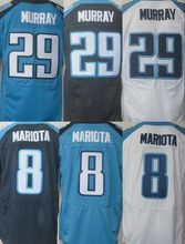 NEW arival 29 DeMarco Murray Jersey #8 Marcus Mariota elite white navy blue 100% Stitched sport jersey(China (Mainland))