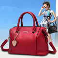 women new bag handbag pu leather 2016 work cross body cowhide wax shoulder big bag luxury