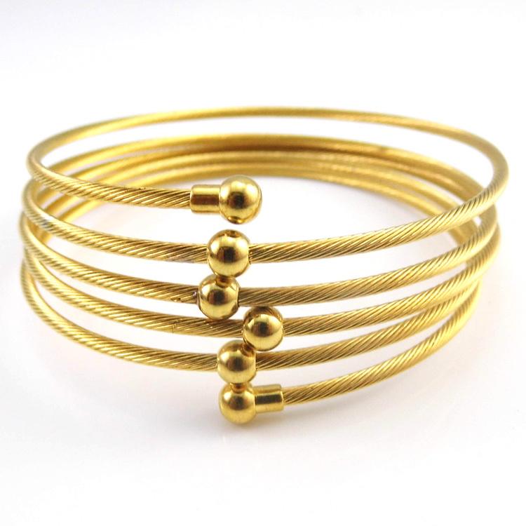 New 2016 18K Yellow Gold Plated Twist Wire Mesh Hand Bangle Charm Bracelets Pulseiras Fashion Jewelry For Perfume Women Bijoux(China (Mainland))