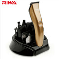 Riwa 3 Heads Rechargeable Hair Trimmers 2 Hours Fast Charging Champagne Gold Hair Clipper Kit With