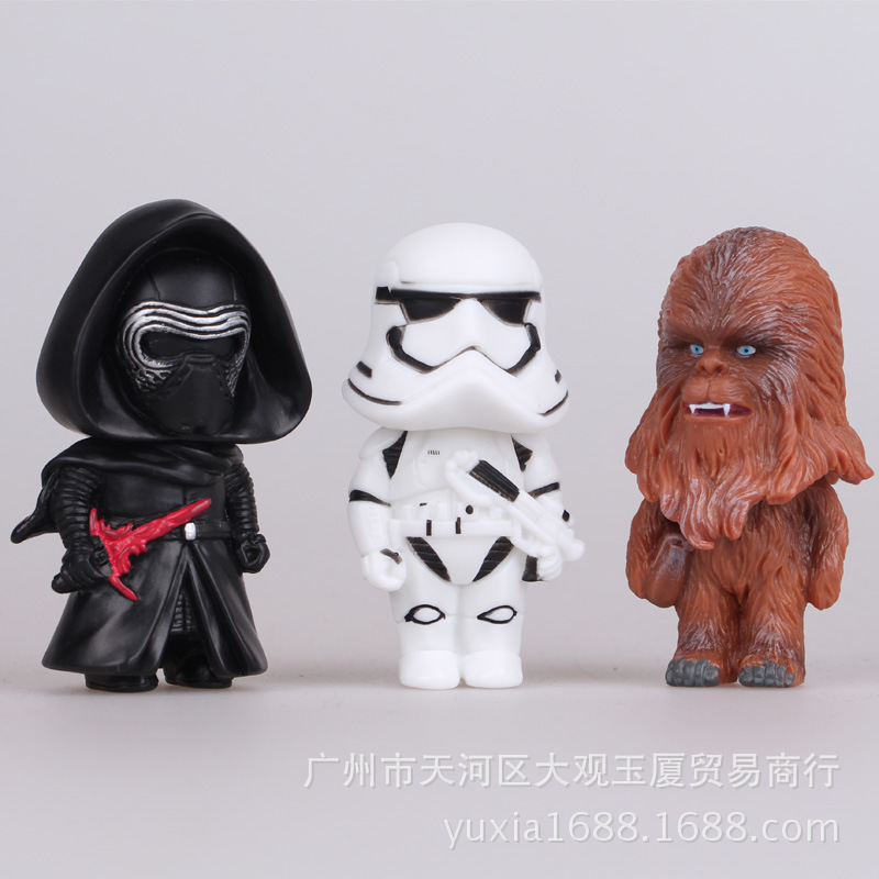 shipping dhl 100set 8cm Star Wars Darth Vader Stormtrooper Bobble Head PVC Action Figures Collectible Model Toys Dolls <br><br>Aliexpress
