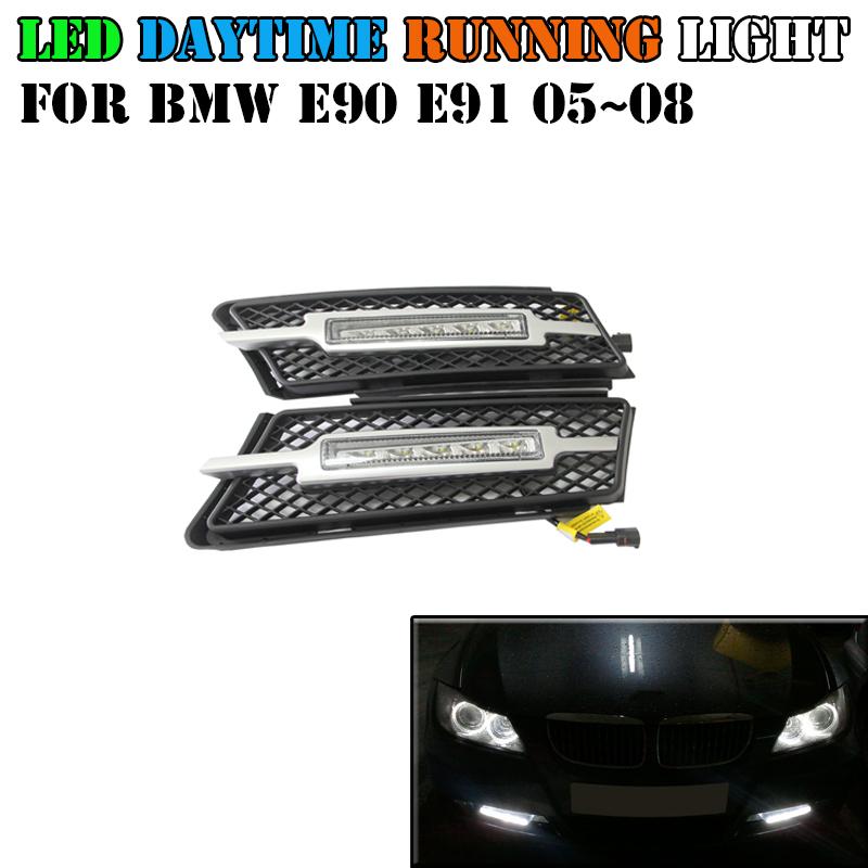 Здесь можно купить  1000Lm high brightness 10W cree led drl daytime running light 12V driving fog light for BMW E90 E91 2005-2008 with turn signal  Автомобили и Мотоциклы
