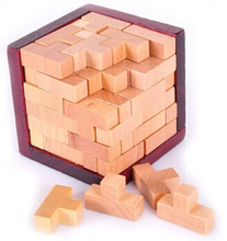 Hot 3D Wooden Puzzle IQ Mind Brain Teaser Tetris Puzzles Game for Adults Kids