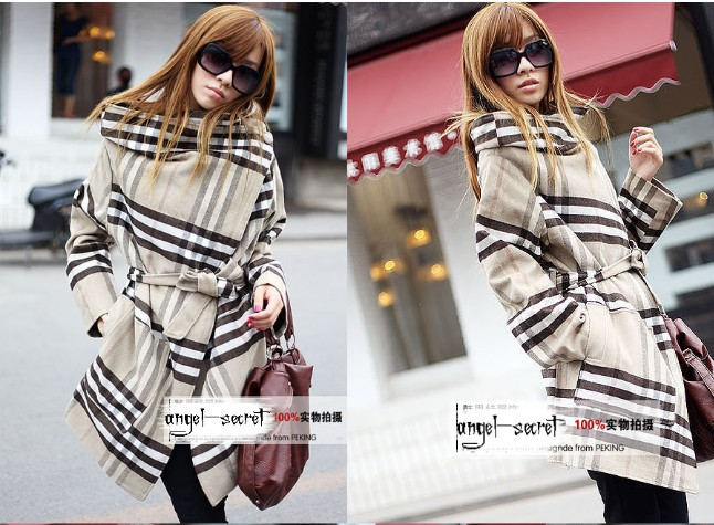 CJ179 WOMEN COAT JACKET BEIGE GRAY CHECK FLANNEL NWTОдежда и ак�е��уары<br><br><br>Aliexpress