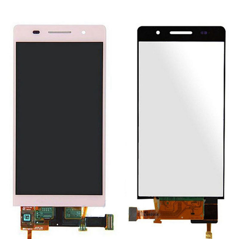 OEM P6 LCD Screen Replacement For Huawei Ascend P6 Front Screen Full Assembly Cell Phone Repair Parts 100% Brand New Pink(China (Mainland))