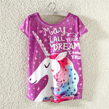 Buy 2017 New Arrivals Women Fashion T shirt Short Sleeve Cat Unicorn Printed 7 color t-shirt Casual Tee Shirts Street Tops for $4.74 in AliExpress store
