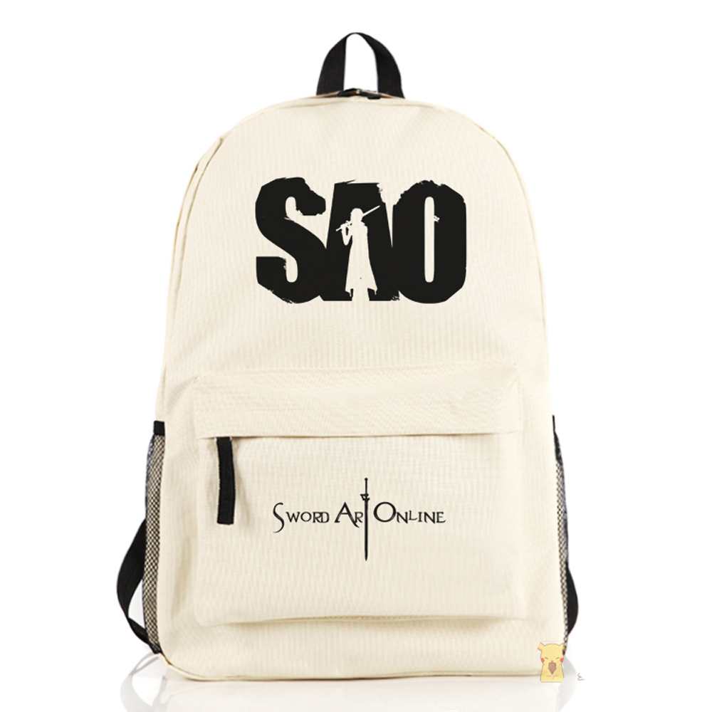 2015 New Japanese Anime Sword Art Online Cosplay SAO School Bag Shoulder Boy Travel - Feng XQ Store store