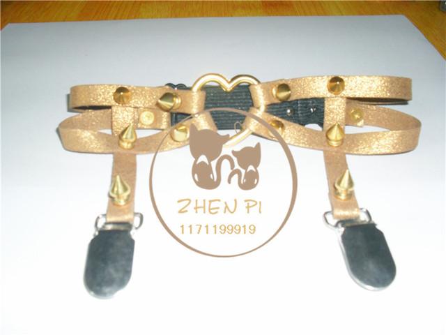 Кожа подвязки, Заклёпка ноги кольцо HARAJUKU 100% ручной работы заклёпка полиуретан ...