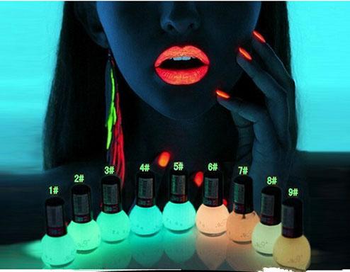 2016Non-toxic Neon Fluorescent Luminous oil matte nail polish candy 12 colors transparent Nail Varnish Lacquer Paint Nail Art(China (Mainland))