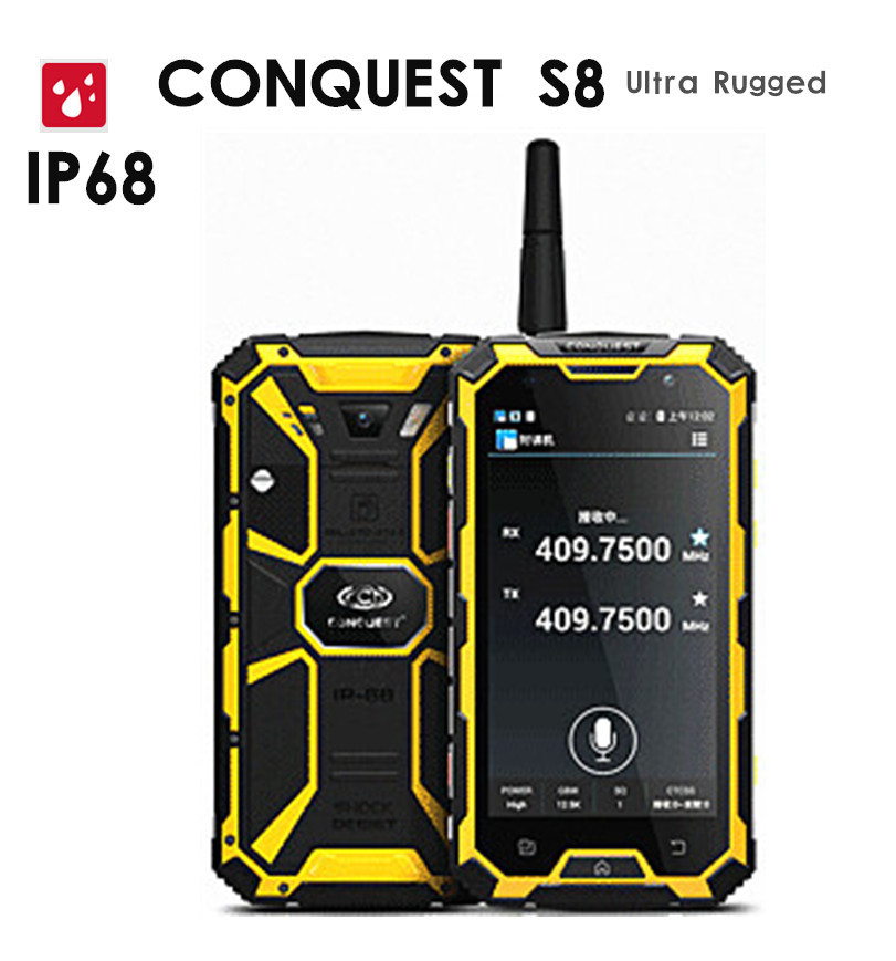 "Original Conquest S8 6000mAH Battery Quad Core 5"" HD Android 2GB RAM ip68 Rugged waterproof phone GPS 4G LTE FDD Walkie talkie(China (Mainland))"