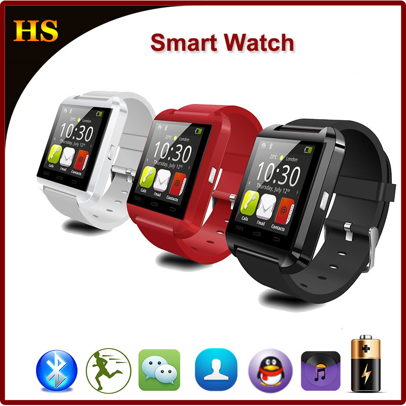 2015 New U80 U Bluetooth Touch Screen Smart Wrist Sport Watch for Android Smart Mobile Phone Message Support SIM Card Smartwatch(China (Mainland))