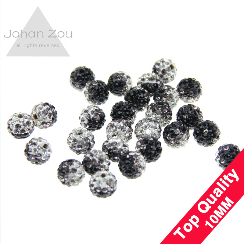 Wholesale 10mm Shamballa accessories gradient color beads supply Charm Disco Ball Bead jewelry Suitable for knitting bracelet()