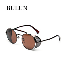 BULUN New Metal Steampunk Sunglasses Women Brand Designer Retro Classical Sun Glass Unisex Oculos De Sol Feminino Lentes Gafas
