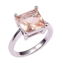 Basic Fashion Morganite 925 Sterling Silver Marriage ceremony Occasion Trend Design Romantic Ring  Dimension 5 6 7 eight 9 10 11 12 PR46