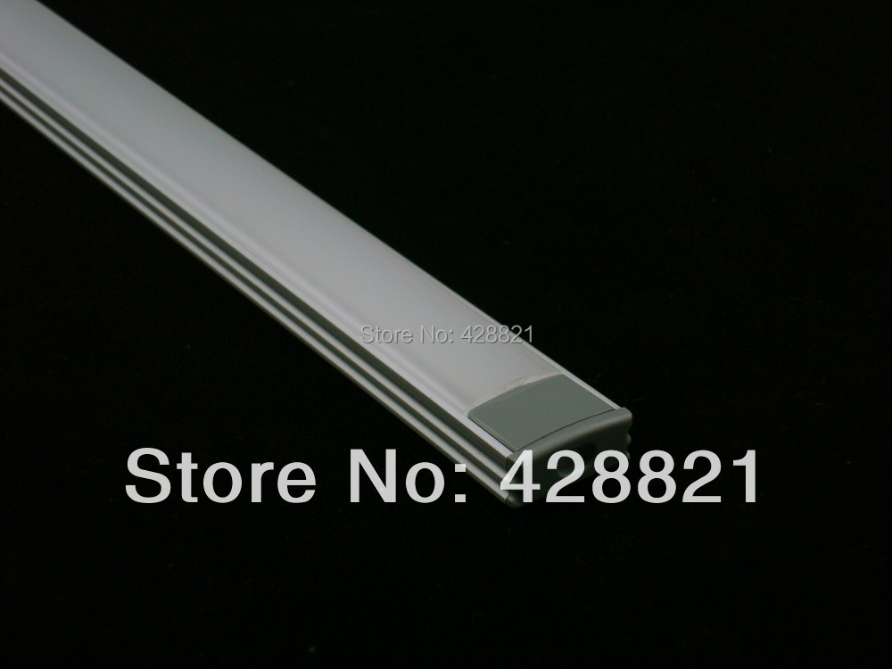 5m/Lot Free shipping 1707 LED aluminium profile with FROSTED cover, end caps and mounting clips for width up to 12mm led strips(China (Mainland))