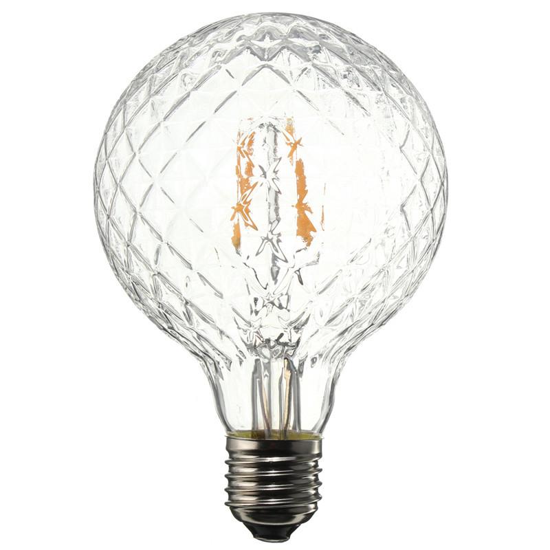 E27 4W Pineapple Ultra Bright COB LED Vintage Antique Edison Filament Bulb Light Lamp Warm White 500Lumen Non Dimmable AC85-265V(China (Mainland))