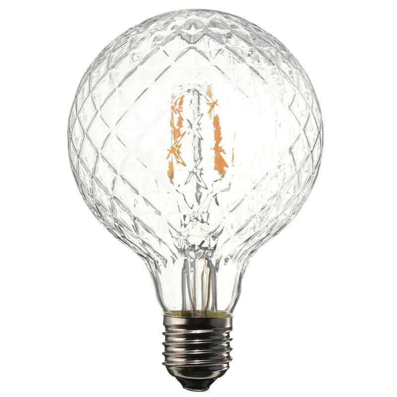 E27 4W Pineapple Ultra Bright COB LED Vintage Antique Edison Filament Bulb Light Lamp Warm White 500Lumen Non Dimmable AC85-265V(China (Mainland))