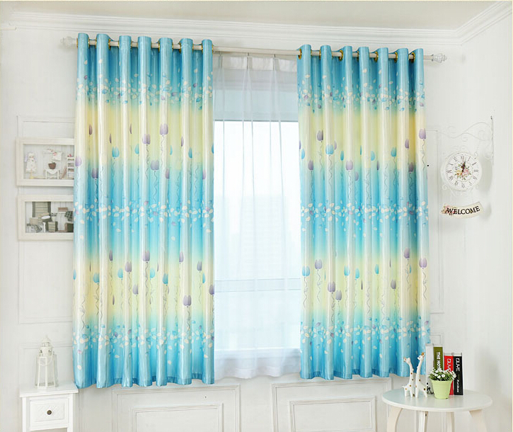 Buy Sky Blue High Quality Curtains Finished Fit Girl Bedroom Curtains From