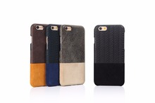 Deluxe color stitching leather Phone Case For iphone6 6s Cover to Protect The Skin Slip Lines Cover For iPhone6 6S Shell Capa