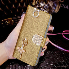 "Buy Luxury Bling Liquid Glitter Cover Lenovo Vibe K5 Note A7020 K52t38 A7020a40 A7020a48 5.5"" Cover Flip PU Leather Phone Coque for $2.79 in AliExpress store"