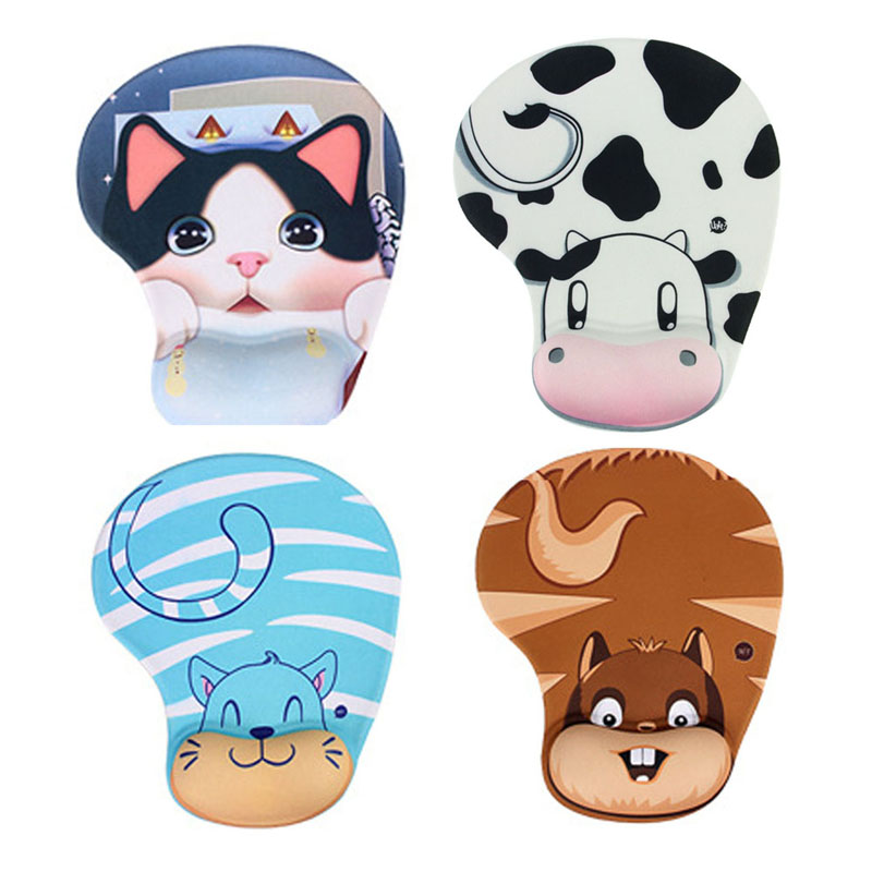 Best Price Practical Lovely Animal Skid Resistance Memory Foam Comfort Wrist Rest Support Mouse Pad Mice Pad Gaming Mousepad(China (Mainland))