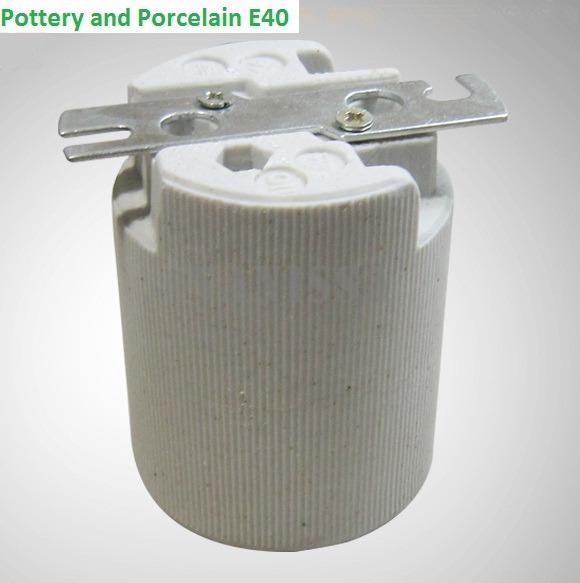 Factory Wholesale 3pcs/pack E40 Pottery And Porcelain Lamp Holder Bracket Ce Certification Lamp Base(China (Mainland))