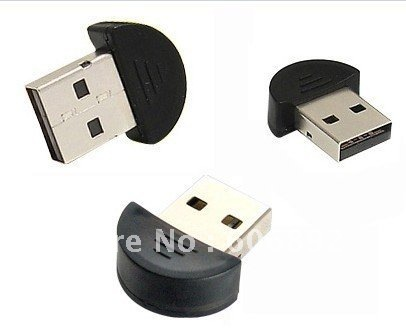 Free shipping 10pcs/lot Smallest 2.0 Mini USB Bluetooth Adapter V2.0 EDR USB Dongle drop shipping