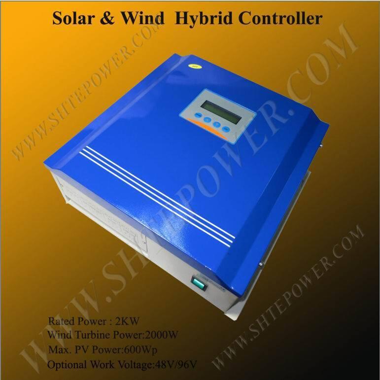 Solar wind charge 48v 96v 2kw hybrid controller(China (Mainland))