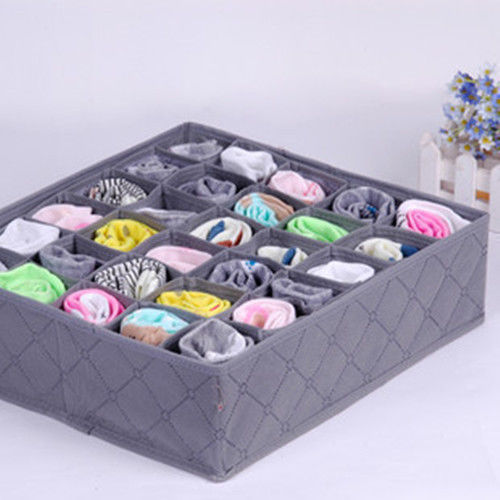 New Arrival Wholesale Price 30 Cell Bamboo Charcoal Underwear Ties Socks Drawer Closet Organizer Storage Box Fit For Collection(China (Mainland))
