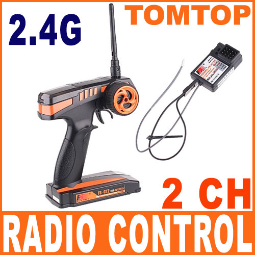 100% NEW 2.4G FS-GT2 2CH Radio Model RC Transmitter & Receiver for Car Boat(China (Mainland))
