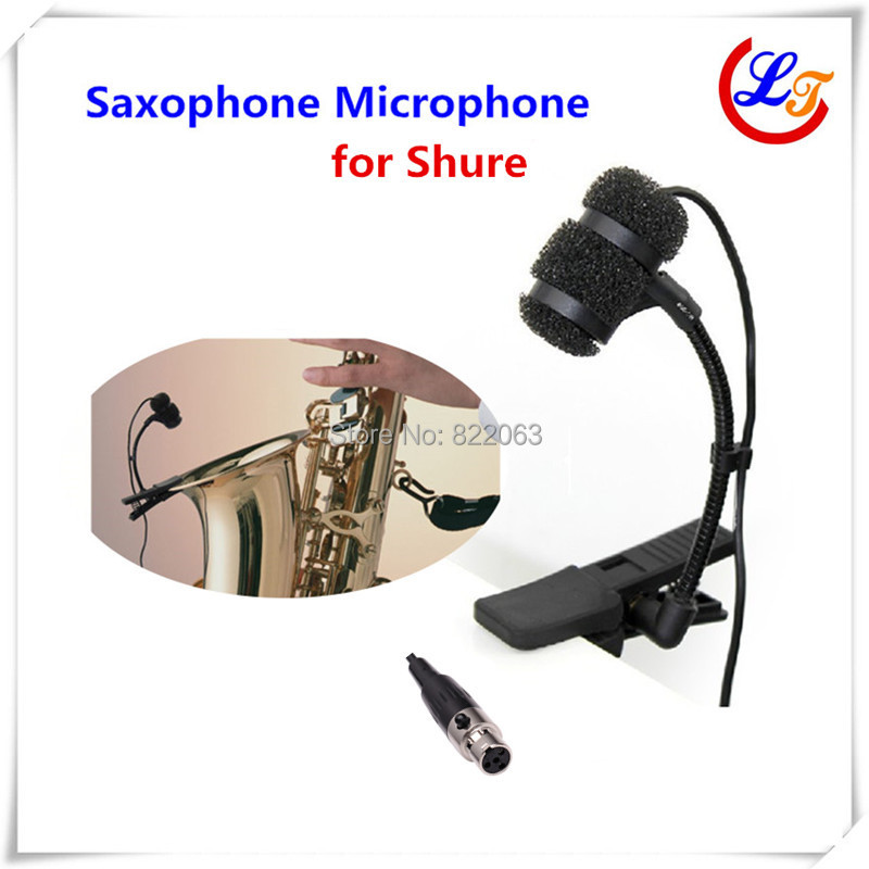 Professional Lapela Condenser Saxophone Microphone Music Instrument Microfone for Shure Wireless System XLR mini Microphones(China (Mainland))