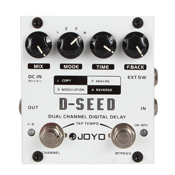hot New JOYO D-SEED Mono Dual Channel Digital Delay Guitar Effect Pedal With Four Modes(China (Mainland))