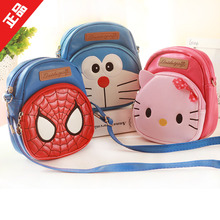 Hello Kitty Superman Doraemon PU School Bags for Boys Girls Children Book Bag Mini Mochila Kids Kindergarten Messenger Bags