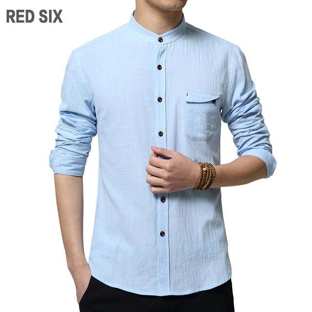 Плюс размер 4xl 5xl Весна осень с длинным рукавом белье хлопок рубашки Высокого качества ...