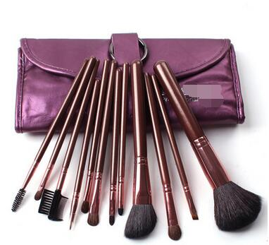 12 pieces wool makeup brush sets Beauty tools professional make-up artist / photo studio the necessary(China (Mainland))
