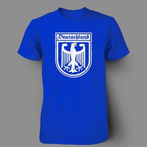 Man T-shirts Deutschland Germany Eagle Crest German Soccer Jersey T-Shirt Men 100% Cotton Printed Custom T Shirt Men Size S~XXXL(China (Mainland))