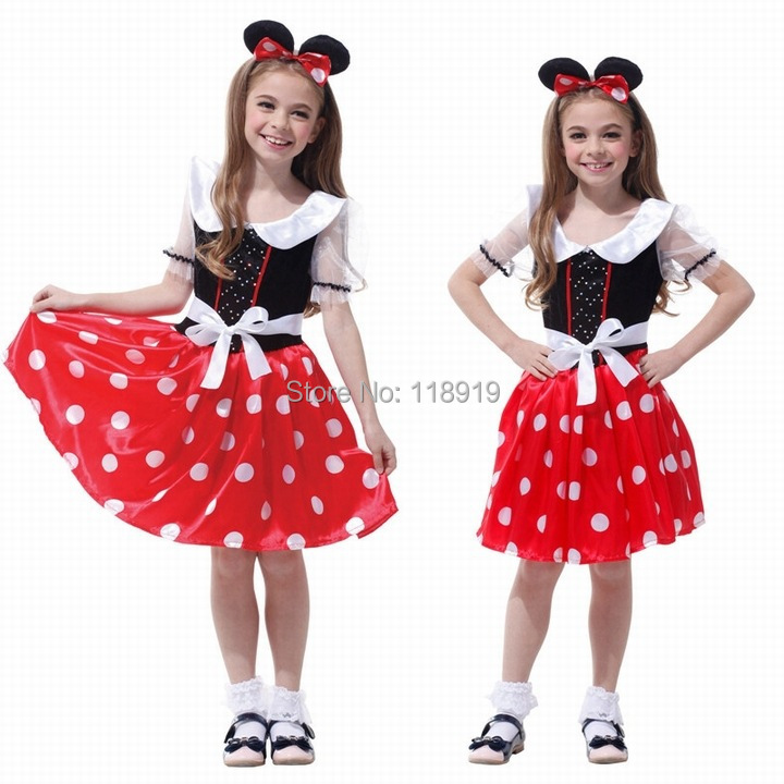 2015 New Girls Halloween Party Snow White Princess Costumes Outfit Childrens Fancy Cosplay Dresses Size M L XL(China (Mainland))