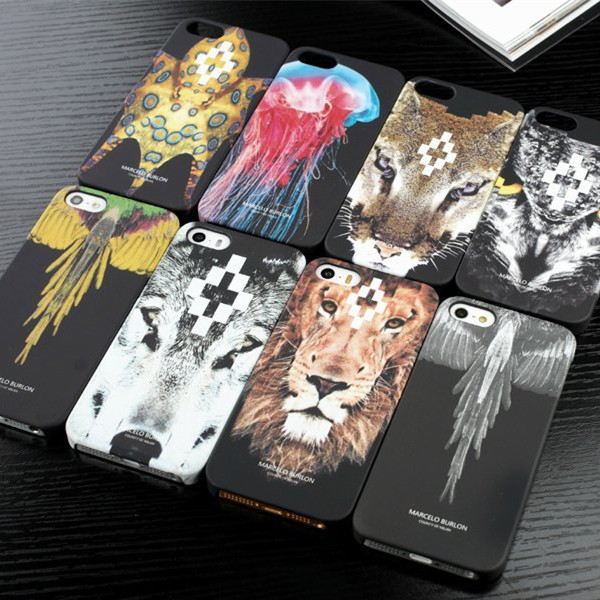 Hot Brand Marcelo Burlon Phone Cover Wolf Lion Skull Feather Snake Hard PC Fundas Case iPhone 5 5s SE Back Coque Capa - Idealink store
