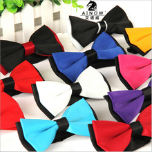 1 piece fashion brand bow tie polyester silk butterfly adjustable wedding bowtie bow ties for men 13 colors(China (Mainland))