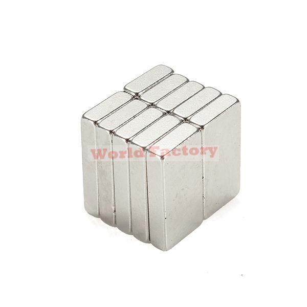 2015 New Aimant Iman Neodimio 10 _ N35 Super Strong Block Cuboid Magnets Rare Earth Neodymium