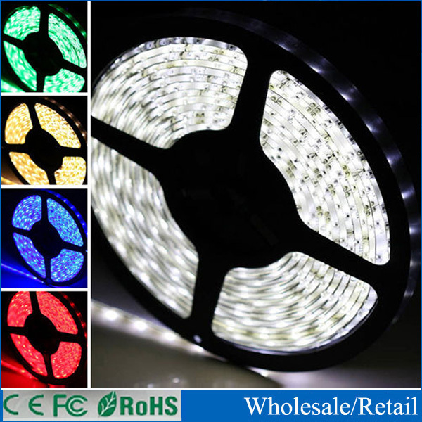 5m DC 12V led strip non Waterproof white smd 3528 300leds diodes Flexible strip 60 led/m lighting cool white Blue for car s1(China (Mainland))
