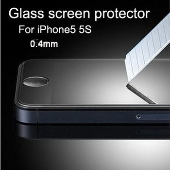 HD Clear 0.4mm LCD Front Premium Tempered Glass Screen Protector Protective Film Guard Cover Apple iPhone 5 5S 5C - BOAS store