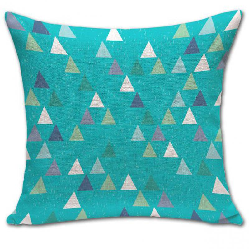 Modern Minimalist Geometric Diamond Patterns Cotton Linen Decorative Throw Pillow Case Cushion ...